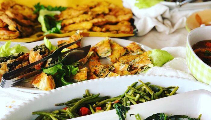 Buffet antipasti area self service ristorante 2 laghi